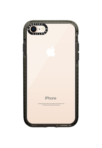 Casetify black Impact Protective Clear Case for iPhone 8/ iPhone 7 – Black 453E2AC1794269GS_1