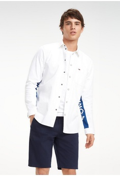 6092293cab Tommy Jeans white Tjm Tommy Panel Shirt C92EAAAAF6B6E8GS 1