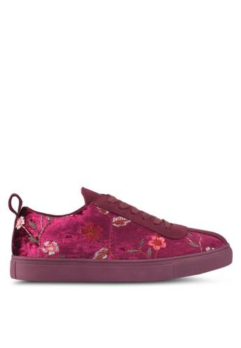 ZALORA purple Floral Embroidered Sneakers E7DD0SH5288917GS_1