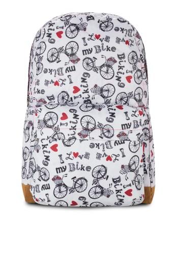 Miss Lady Tr京站 espritansformer 折疊式印花後背包, 包, 後背包