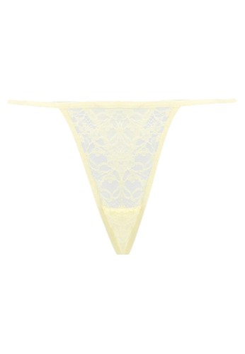 LAVABRA Intimates yellow Very Sexy Panty - Melissa Sexy Floral V String LA387US33EZYID_1