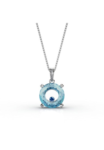 Her Jewellery blue and silver Swarovski® Zirconia - Twilight Pendant (Blue)(18K White Gold Plated) Her Jewellery HE581AC0RACQMY_1