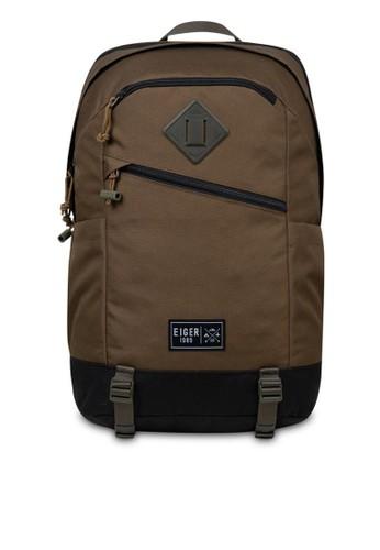 Eiger brown 1989 Detour 2.0 Laptop Backpack 725A8AC0CE3761GS_1