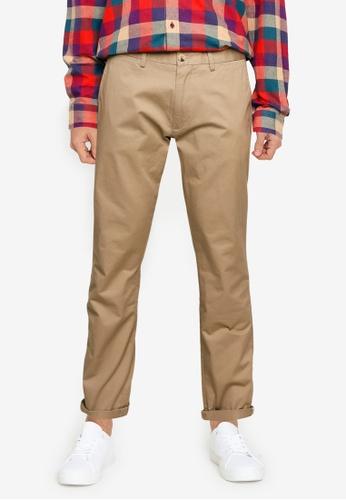 Ben Sherman brown Signature Slim Stretch Chino Trousers E28B5AA956CDB5GS_1