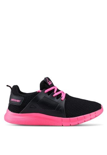 Power 黑色 and 粉紅色 Power 慢跑鞋 04482SH82440E0GS_1