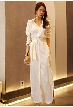 2fad784a436 Crystal Korea Fashion New Temperament Waist Slim Long Section Lace Dress S   81.00. Sizes One size