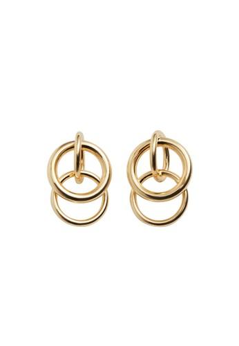 Violeta by MANGO gold Intertwined Hoop Earrings 6BED5AC4F7C037GS_1