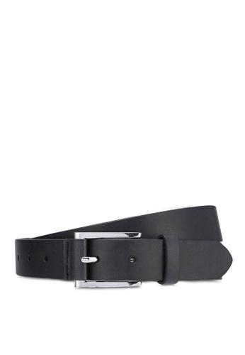 Burton Menswear London black Black Tab Detail Belt BU964AC0RJEAMY_1