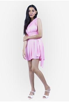 950e9e7e6749 JULY pink Severine Convertible Bridesmaids Dinner Mini Dress in Pink  28CB7AABCA5258GS_1
