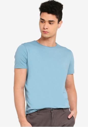 SPARROW GREEN blue Langley Scallop T-Shirt 1F777AA5EDFE49GS_1