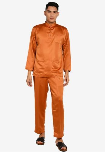 Gene Martino brown Tradisional Baju Melayu 17D32AA307B1DEGS_1