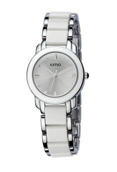 Kimio Silver Case White Dial Casual Fashion Watch