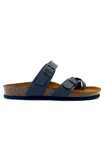 SoleSimple 灰色 Dublin - 灰色 百搭/搭帶 軟木涼鞋 776D1SHBAA090DGS_1