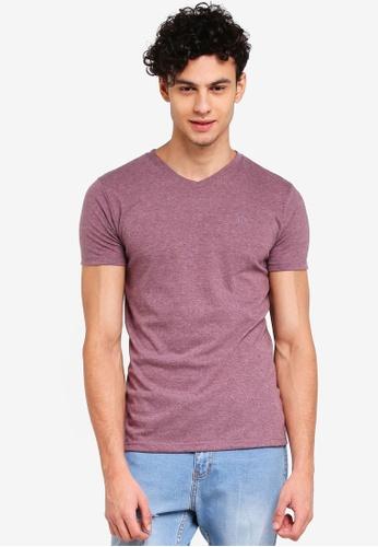 Penshoppe 紅色 短袖素色T恤 F5E49AA83A97A6GS_1