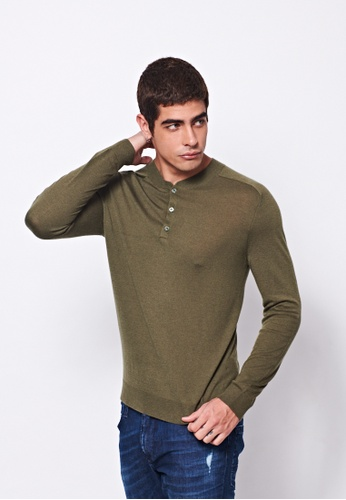 United Colors of Benetton green V-neck Knitted Sweater 4696CAA04D384CGS_1
