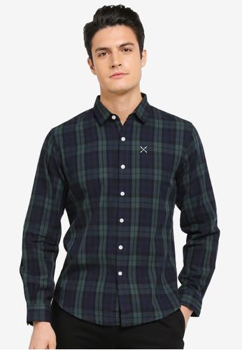 JAXON green Checked Long Sleeves Shirt 209E2AA334A500GS_1