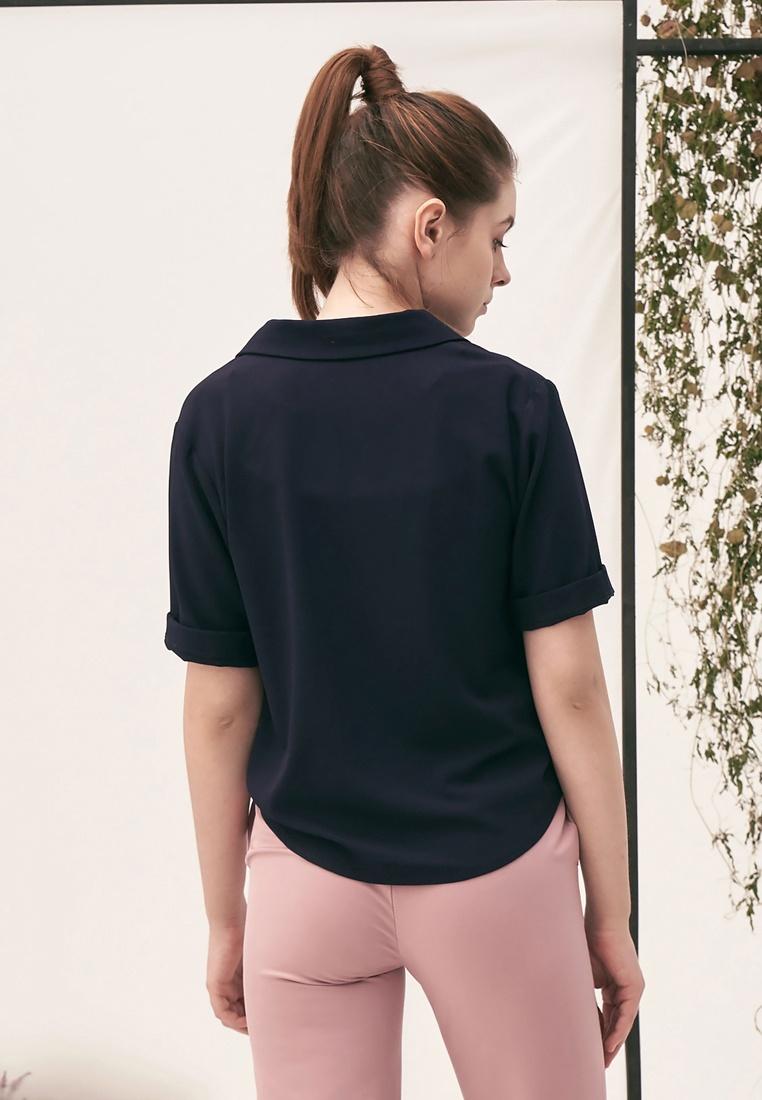 Pocket Shirt Crop Kodz Dark Blue a45UqYx