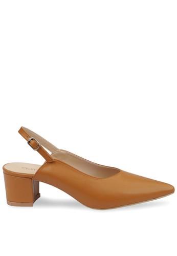 CLAYMORE brown Claymore Mid Low Heels  MZ - 1739  Tan 9B7E5SH2296266GS_1