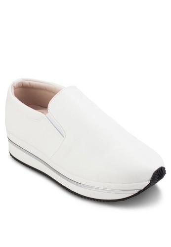 皮革運動esprit 童裝風厚底懶人鞋, 女鞋, 鞋