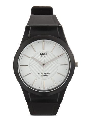 Vzalora 台灣Q50J003Y 刻度顯示橡膠手錶, 錶類, 飾品配件
