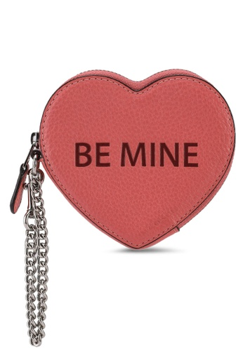 Coach pink Heart Coin Case (cv) BC1AFAC5EC9173GS_1