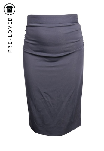 Dolce & Gabbana black Pre-Loved dolce & gabbana Black Midi Skirt With Draped Back CF744AABC19B77GS_1