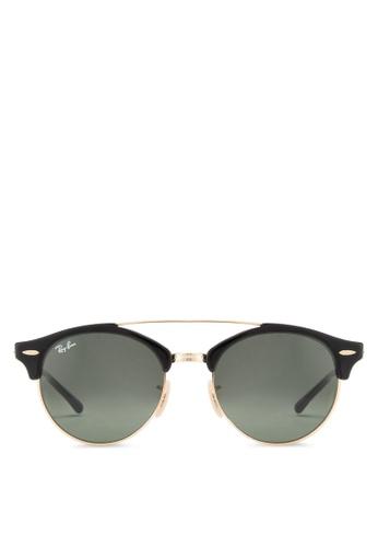 01d6593ab6 Ray-Ban black Clubround Double Bridge RB4346 Sunglasses RA896GL95EDGMY 1