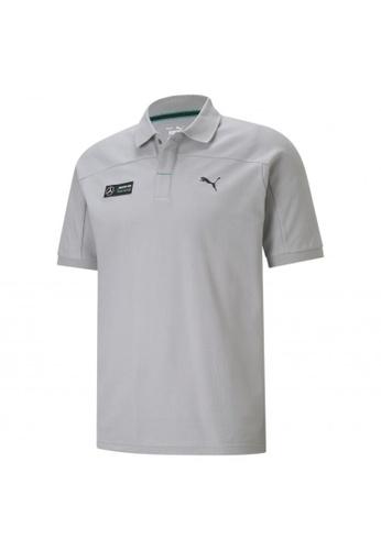 PUMA grey PUMA Mercedes F1 Men's Polo Shirt 9C60BAA7FE2188GS_1