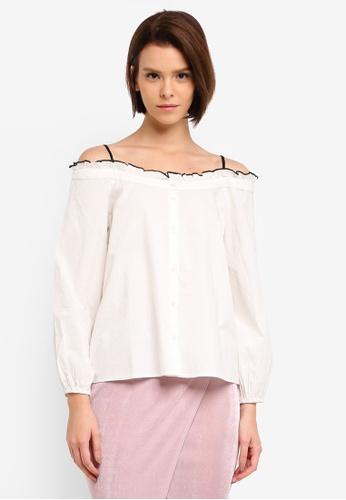 Vero Moda white Linnea Off Shoulder Top 377DEAA1967A48GS_1