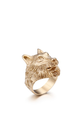 HAPPY FRIDAYS Stailess Steel Wolf Head Ring KL48276 C20E9AC56341FFGS_1