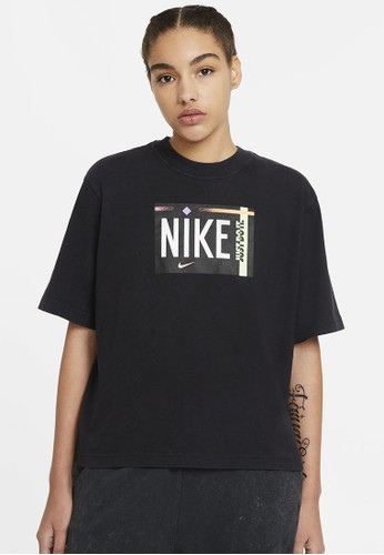 Nike black As W Nsw Tee Wash Nsw Other Sports 84A17AA8969FC5GS_1