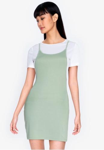 ZALORA BASICS multi Tie Shoulder 2-in-1 Dress 3FCF8AAC250D15GS_1