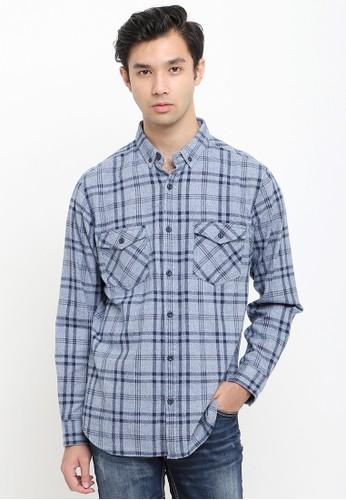 Tripl3 Jeans navy Kemeja Lengan Panjang Slim Fit 2824CAA1635921GS_1