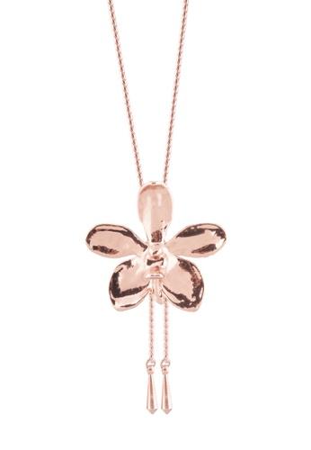 RISIS pink RISIS 18K Rose Gold Plated Natural Aeridovanda Vieng Ping Orchid Slider 5B576AC654E2EAGS_1