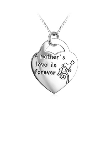 Glamorousky silver 925 Sterling Silver Mother's Day Heart Pendants with Necklace DEB9DAC515EB7CGS_1