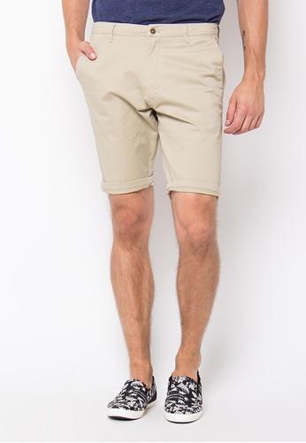 Minarno beige Cream Chino Shorts 6648EAA641A32CGS_1