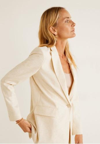 7d953e78a441 Buy Mango Flecked Suit Blazer | ZALORA HK