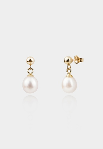monojewelry CLASSIC DROP PEARL EARRINGS 7DB8DAC3B264F1GS_1
