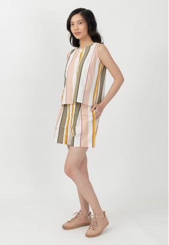 Point One white Stripe set - Astrid blouse & Mile shorts 787E8AABBB9E8BGS_1