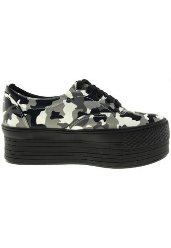 Maxstar grey and multi Maxstar Women's C50 5 Holes Platform TC Low Top Camo Sneakers US Women Size MA164SH81PRESG_1