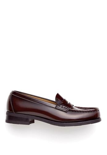 HARUTA 褐色 經典樂福皮鞋-4505 739DASHE7DAF15GS_1
