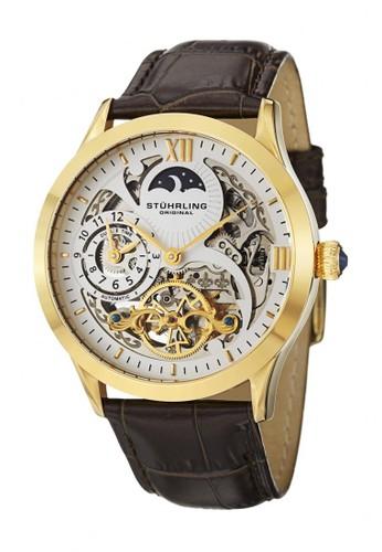 Stuhrling Original brown Stuhrling Original Special Reserve Gold 571-3335K2 ST521AC95SHGID_1
