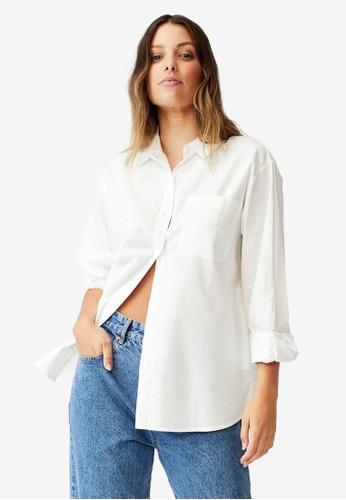 Cotton On white Preppy Shirt 1AE2EAAFCC7AEAGS_1