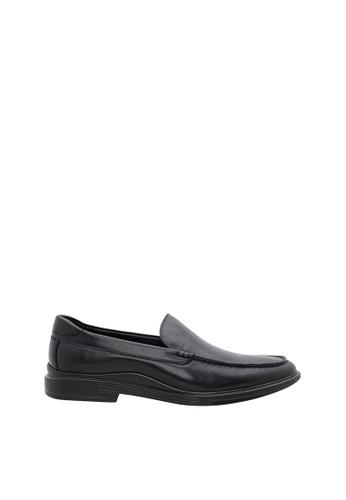 SEMBONIA black Men Calf Leather Business Shoe 956D6SH04DEE35GS_1