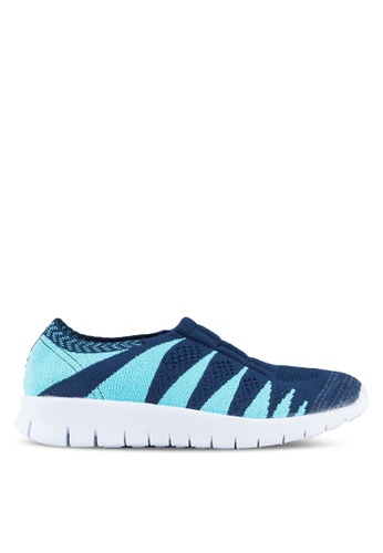F-KNIT multi Ladies  Colorful Slip On Sneaker FK273SH20VXRHK_1