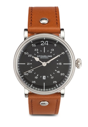 563e181a8 Shop Stuhrling Original Men's Quartz Brown Leather Watch Online on ZALORA  Philippines