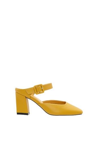 SEMBONIA yellow Women Synthetic Leather Mules 11FBFSHC57BE46GS_1