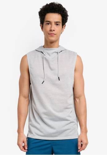 Cotton On grey Coar Active Hooded Muscle 00945AAC0C4D86GS_1