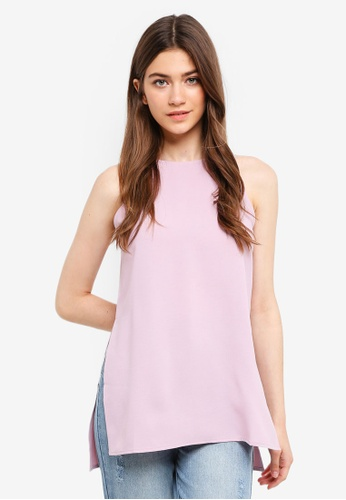 Something Borrowed pink Cut-In Slit Tunic Top 0CCE3AA90A3670GS_1