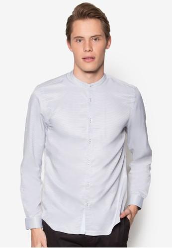 中式領短袖襯衫、 服飾、 襯衫BurtonMenswearLondon中式領短袖襯衫最新折價